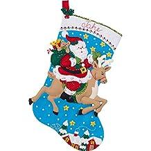 BUCILLA 86816 Reindeer Santa Stocking Kit