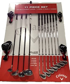25b632f6 Callaway RAZR Edge 11 Piece Golf Club Set - Right Hand 10.5 Degree Regular  Sport, Fitness, Training, Health, Exercise Gear: Amazon.co.uk: Sports &  Outdoors