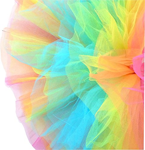 Dancina-Womens-Organza-Tutu-Skirt-5-Layer-Short-Poofy-10-Runners-Length