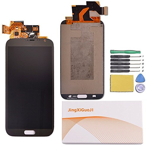 JingXiGuoJi® Replacement Digitizer and Touch Screen LCD Assembly with Tools for Samsung Galaxy S2 (SGH-T989,T-Mobile Version) (Black)