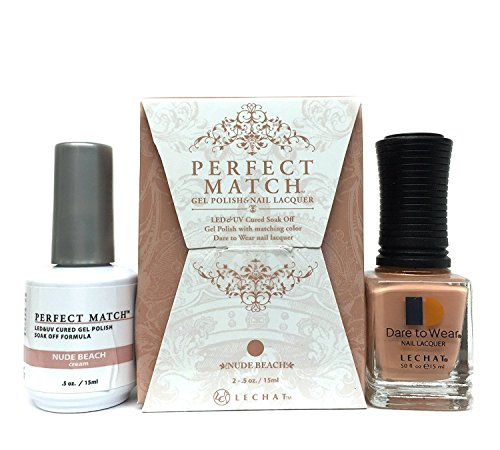 LECHAT Perfect Match Gel Polish, Nude Beach, 0.5 Ounce