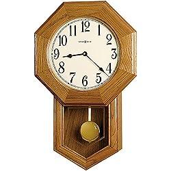 Howard Miller Elliot Wall Clock 625-242 - Golden Oak with Quartz, Triple-Chime Movement
