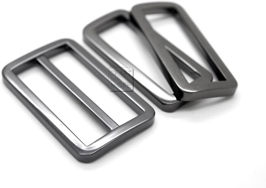 CRAFTMEmore D Rings Purse Loop Flat Metal D-ring Heavy Duty Findings for Bag Belt Strap Webbing 10 pcs 5//8 1 Inch 3//4 1 Inch, Gunmetal