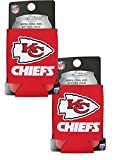 Official National Football League Fan Shop Authentic 2-Pack NFL Insulated 12 Oz Can Cooler (Kansas City Chiefs)