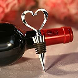 Heart Wine Bottle Stopper Wedding Favors, 30 by Fashioncraft