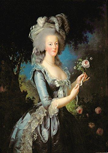 Elisabeth Louise Vigee Le Brun: Marie Antoinette with a Rose. Fine Art Print/Poster. Size A2 (59.4cm x 42cm)