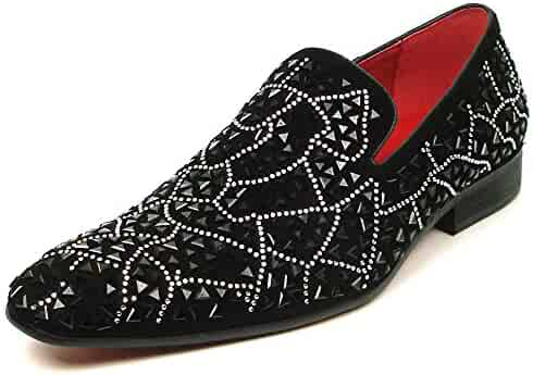 948fec171e4b ... Men's Casual Shoes Slip-On. seller: SEE YOU! (0). Fiesso by Aurelio  Garcia FI-7415 Silver Rhinestones Over Black Suede Slip on Loafer -