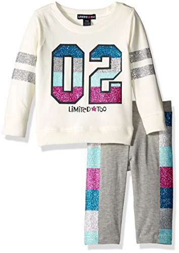 - Limited Too Girls' Knit Top and Legging Set, KU62 Vanilla, 24M