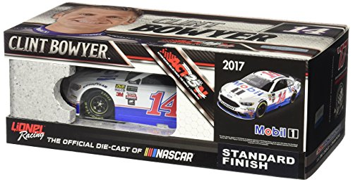 Lionel Racing Clint Bowyer #14 Mobil 1 2017 Ford Fusion 1:24th Scale ARC HOTO Official Diecast of the Monster Energy NASCAR Cup Series