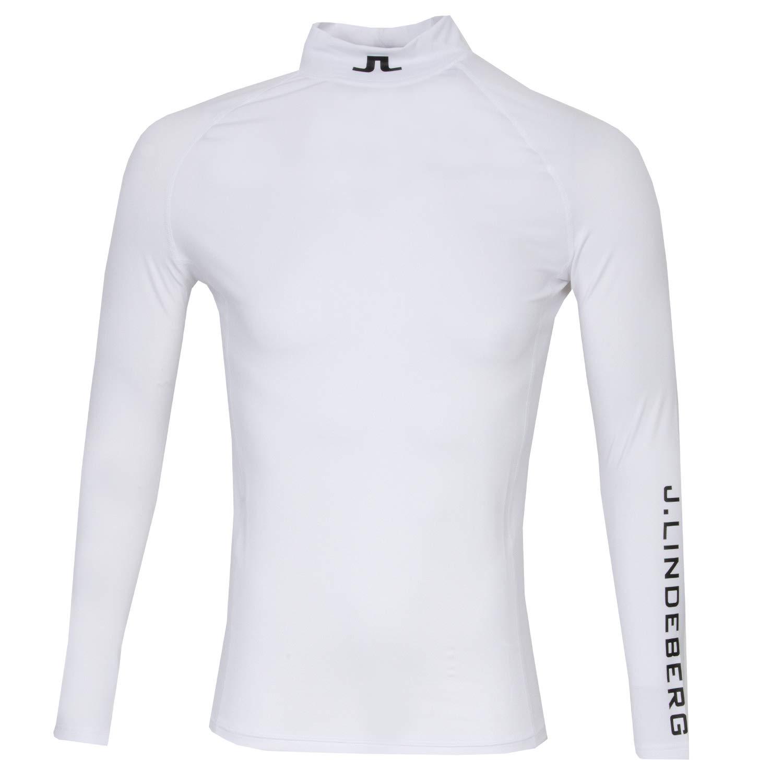 J.Lindeberg Men's Aello Soft Compression, White, L