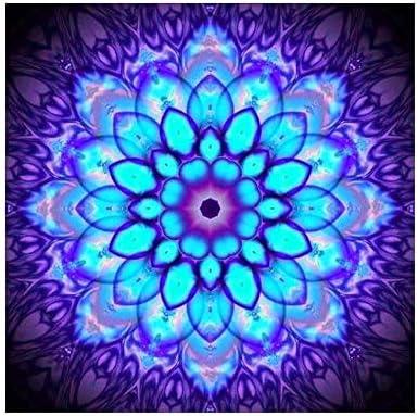 Libertroy Patr/ón de Flor de Resina Redonda 5D DIY Diamante Pintura Encantador Punto de Cruz Completo Diamante Bordado Mosaico Costura Pintura Multicolor Mezclado