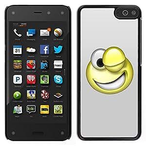 EJOY---Cubierta de la caja de protección para la piel dura ** Amazon Fire Phone ** --Smiley divertido 3D