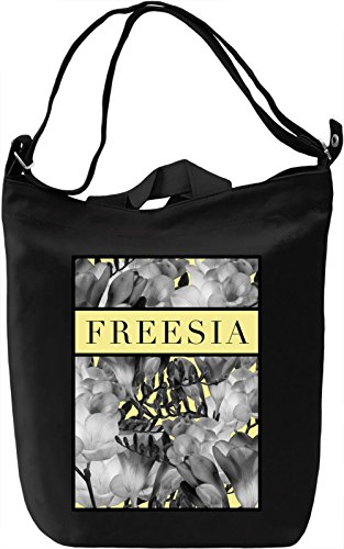 Freesia Borsa Giornaliera Canvas Canvas Day Bag| 100% Premium Cotton Canvas| DTG Printing|