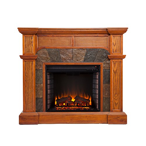 Cartwright Convertible Electric Fireplace - Mission Oak - Energy Efficient Electric Fireplace: Amazon.com