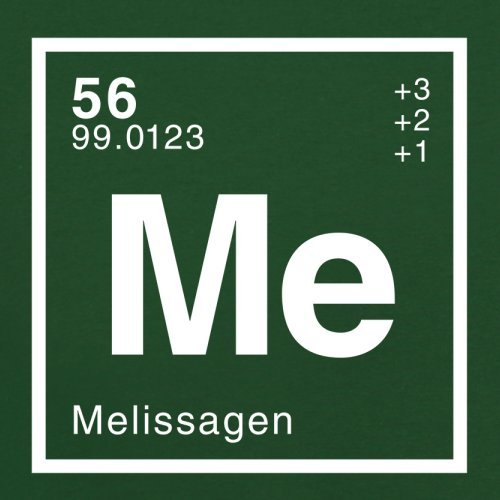 Melissa Periodensystem - Herren T-Shirt - Flaschengrün - S