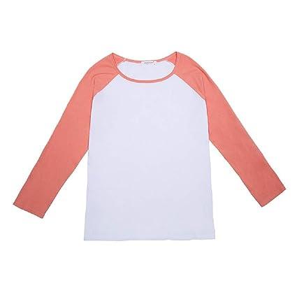 FuweiEncore Camiseta Sweet Base Camiseta Mujer Camiseta Manga Larga Camiseta Suelta Tops Blusas para Ropa Primavera