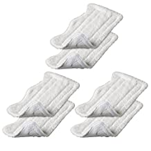 EcoMaid Accessories For 6 Shark Euro Pro Steam Mop Compatible Replacement Pads Europro Microfiber S3250 S3101