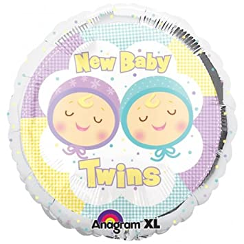 Baby Shower New Baby Twins Foil Balloon Amazon Toys Games