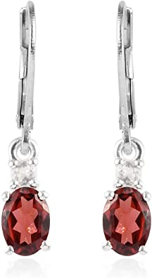 "Gemstone Anniversary Gift Jewelry Drop Dangle Earrings 1.7/"" Sterling Silver"