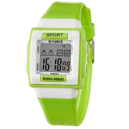 Cebbay Liquidación Imported Reloj para niños Boy Girl Motion Reloj Digital Leisure Fashion Noble (Verde