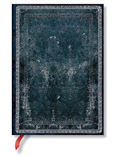 Midnight Steel Midi Lined Journal