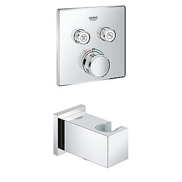 Wandanschlussbogen 29124000 Thermostat Brause- und Duschsysteme Zubeh/ör 26370000 GROHE Grohtherm Smartcontrol GROHE Euphoria Cube mit 2 Verbrauchern 1//2 Zoll