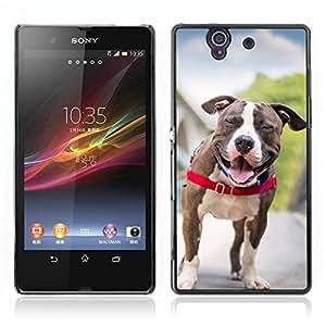 Super Stellar Slim PC Hard Case Cover Skin Armor Shell Protection // V0000810 Dog Puppy Pattern // Sony Xperia Z L36H L36I