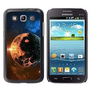 QCASE / Samsung Galaxy Win I8550 I8552 Grand Quattro / apocalipsis planeta del fin del mundo cosmos sol de fuego estrella / Delgado Negro Plástico caso cubierta Shell Armor Funda Case Cover