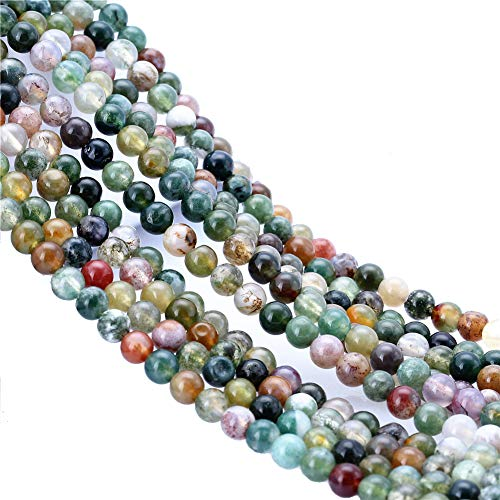 6mm 180pcs Indian Agate Onyx Round Beads Loose Beading DIY Findings