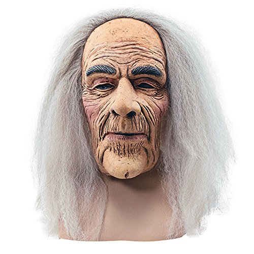 Bristol Novelty BM248 Creepy Old Man Mask and Hair, One -