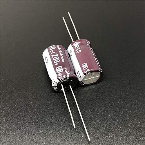5PCS 68uF 200V CS Serie 12,5x20mm Hoher Welligkeitsstrom Hohe Zuverl/ässigkeit 200V68uF Aluminium Elektrolytkondensator