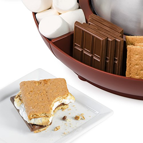 Nostalgia LSM400 Lazy Susan Electric Stainless Steel S'Mores Maker by Nostalgia (Image #2)