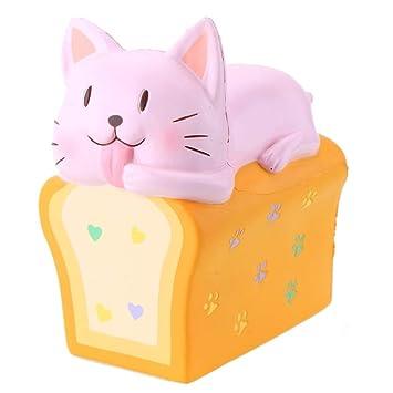 Amazon.com: Jumbo Squishies Toast Cat 6.1