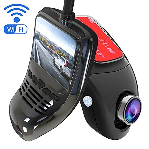 Wifi Dash Cam, Izaway Hidden 1080P Car DVR Dashboard Camera Video Recorder Front 170 Wide Angle with Night Vision, Sony Sensor, G-Sensor, WDR, Parking Monitor, Motion Detection, 2 Inch LCD