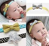 DANMY Baby Girl Rhinestone Crown Headbands