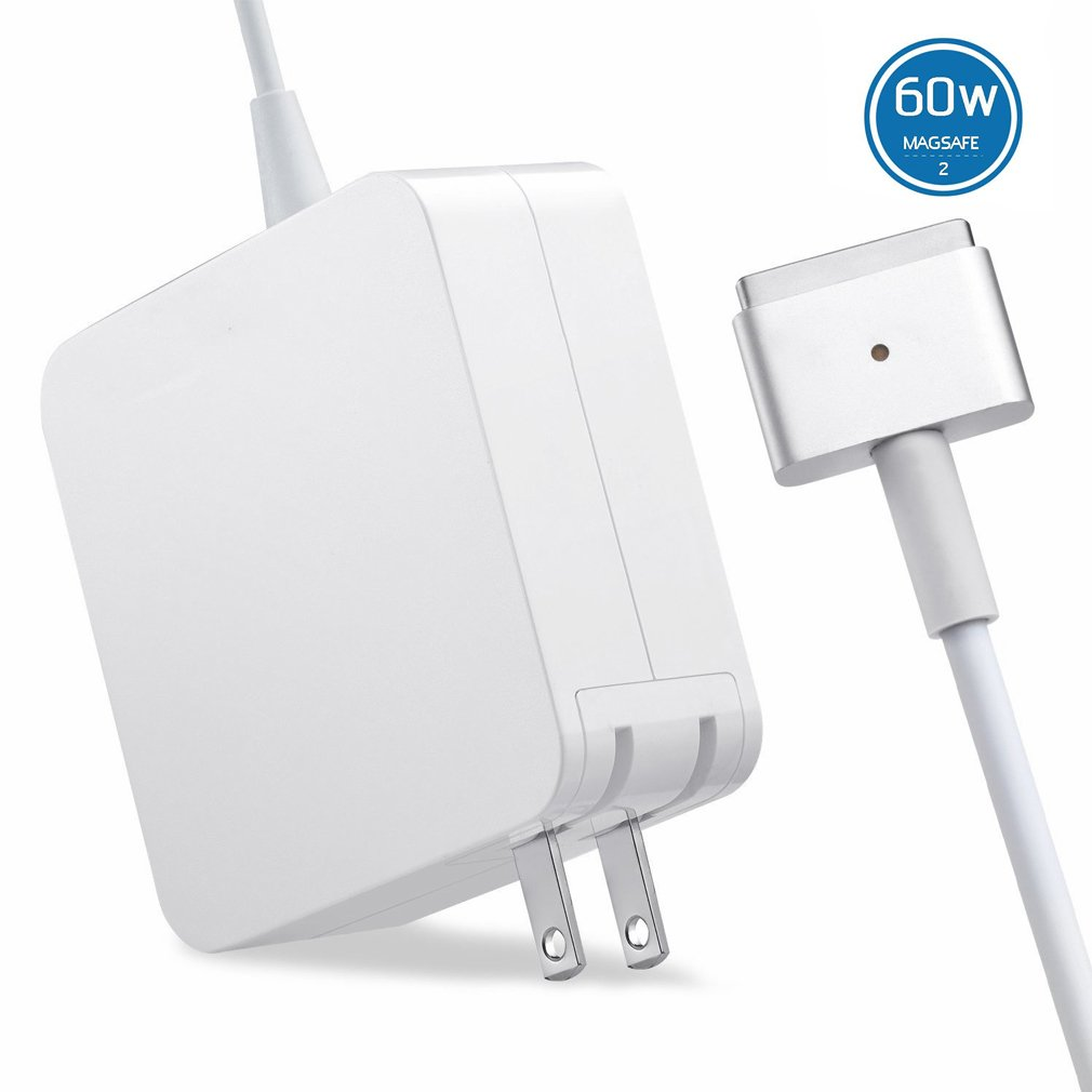 QIANXIANG Laptop Charger,T Tip/Shape/Style Magnetic Connect 60W AC Replacement Power Adapter,Laptop Charger Compatible MacBook Pro 13 inch Retina A1425/A1435/A1465(2012/2013/2014/2015)