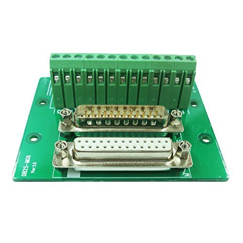 Sysly Connector Db25 D-sub Male and Female Plug 25-pin Port Terminal Breakout PCB Board