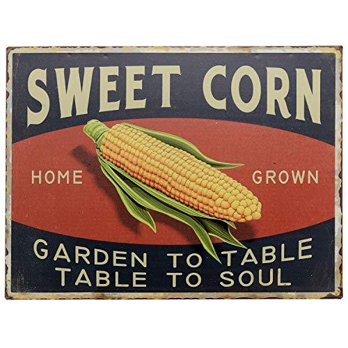 Barnyard Designs Sweet Corn Retro Vintage Tin Bar Sign Country Home Decor 10 x 13