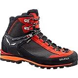 Salewa Men's Crow GTX Mountaineering Boot, Black/Papavero, 13