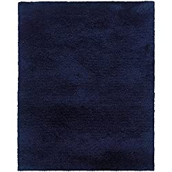 "Oriental Weavers 81106 Cosmo Shag Area Rug, 6' 6"" X 9' 6"", Blue"