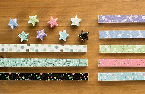 Maggicoo 400 Sheets Lovely Cute Star Folding Paper Lucky Wish Star Origami Paper (2)