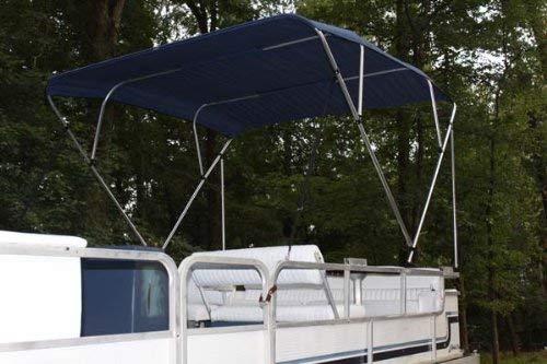 (Vortex NAVY BLUE Pontoon/Deck Boat 4 Bow Bimini Top 8' Long, 91-96