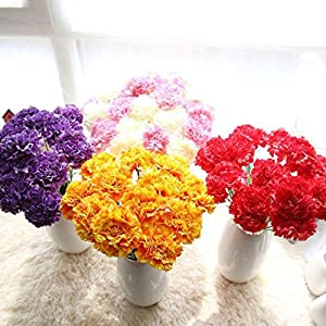 Wondere Artificial Flowers, 'Petals Feel and Look Like Fresh Carnations Floral' Artificial Flower Bouquet Floral Arrangement, Perfect for Wedding, Bridal, Party, Home, Office Décor DIY 93