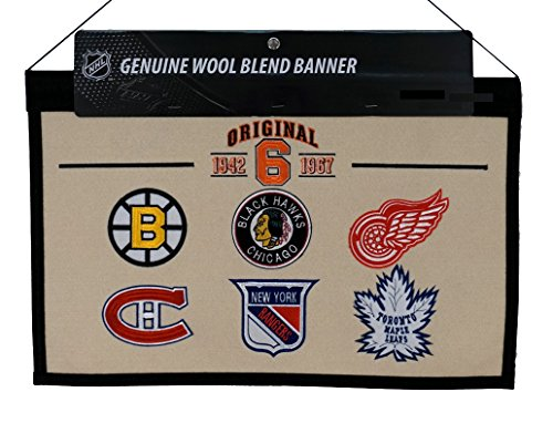 Winning Streak Original Six 1942-1967 NHL Wool Hanging 22x14 Heritage Banner