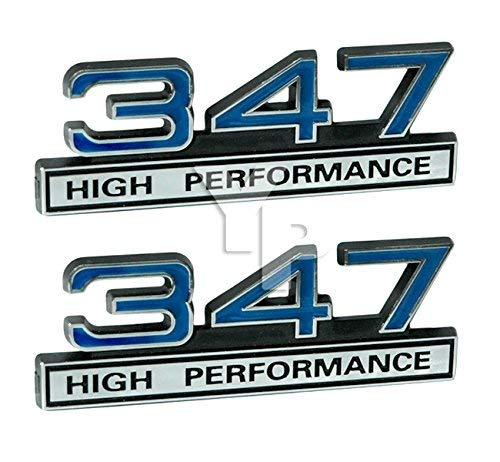 347 5.7 Liter Engine High Performance Emblems in Chrome & Blue - 4