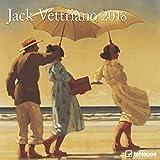2018 Jack Vettriano Calender - teNeues Grid Calendar- Art Calender - 30 x 30 cm