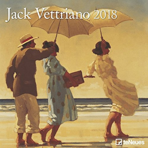 Jack Vettriano 2018 - Kunstkalender, Wandkalender, Broschürenkalender, Realismus - 30 x 30 cm