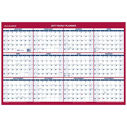 AT-A-GLANCE Wall Calendar 2017, Erasable, Reversible, Vertical/Horizontal, Planner, 36 x 24