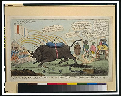 Photo: The Faith of Treaties, John Bull, False Friends, 1794, Diplomatic Situation . Size: 8x10 (app by Infinite Photographs