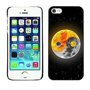 GagaDesign Phone Accessories: Hard Case Cover for Apple iPhone 5 5S - Yin yang Moon Sun